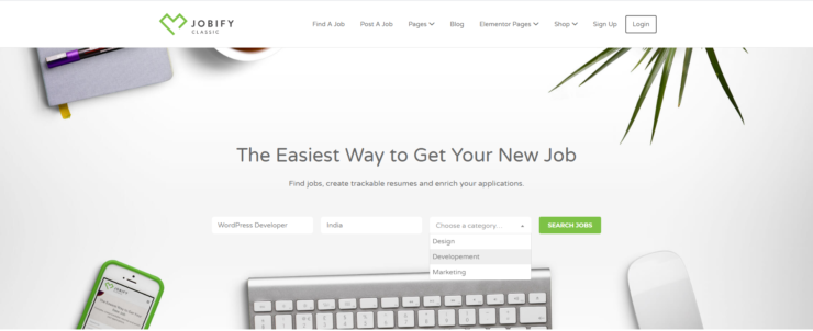 job-board-search-wordpress-website