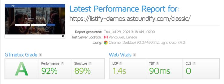 listify-site-performance
